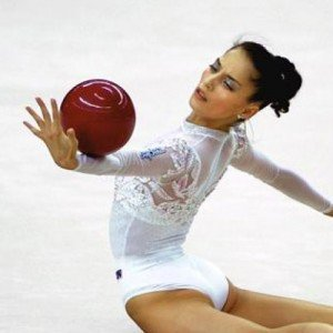 Olena Vitrychenko with ball