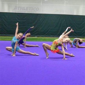 Gymnasts train at Vitrychenko Academy